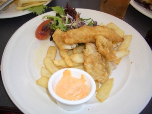 fish and chips, Hotel Rottnest, Jan 2009