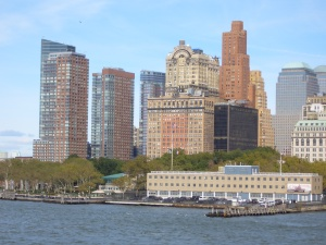 View of Manhattan from Staten Island Ferry