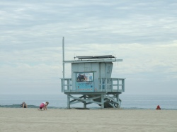 Life guard station, Venice Beach, California