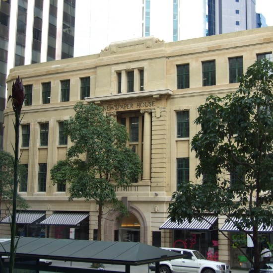 Back to life....Newspaper House, St Georges Tce, Perth